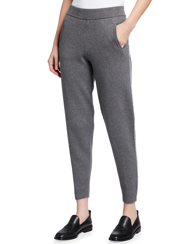 Cotton-Cashmere Sweater Pants