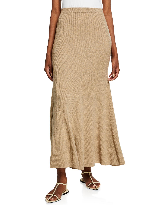 Nanushka Wools ALINA LONG MERINO SKIRT