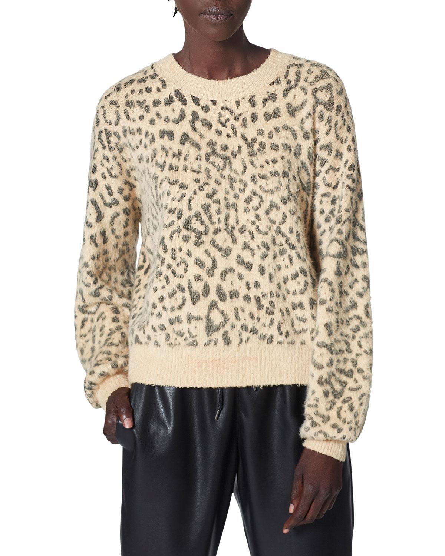 Jorja Animal-Print Crewneck Sweater