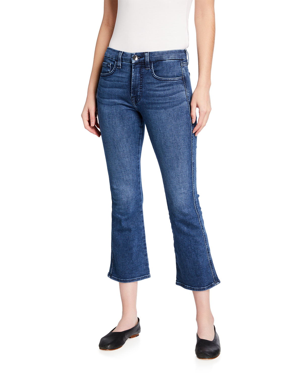 Cropped Kick Flare Jeans