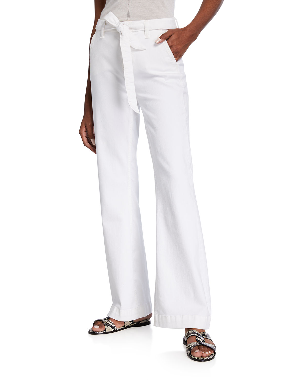 Jen7 TAILORLESS TROUSERS WITH SLANT POCKETS