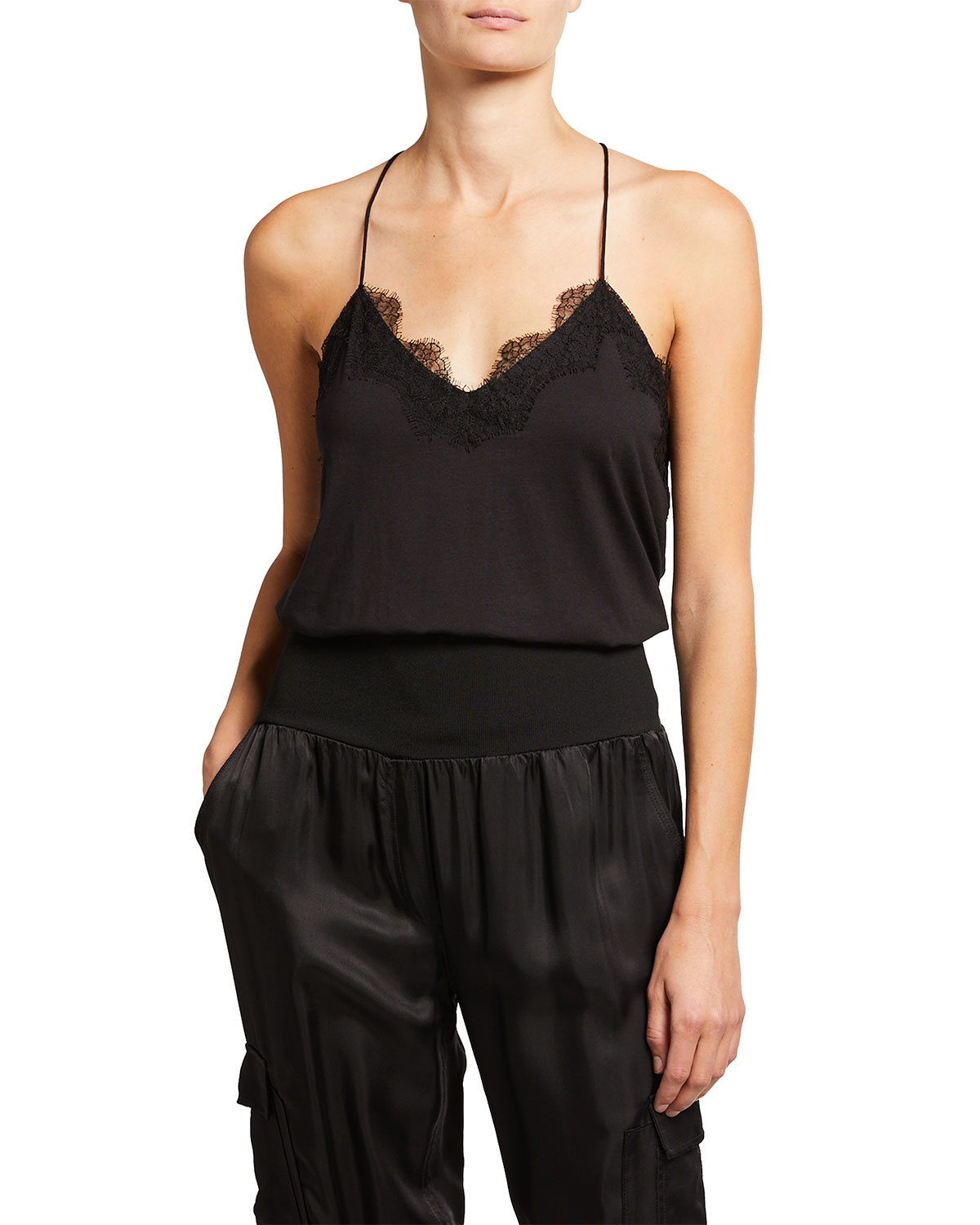 Cami Nyc RACER MODAL CAMISOLE W/ LACE