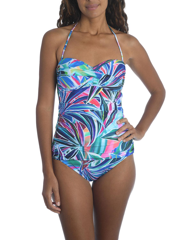 Palm Bandini Printed Swim Top