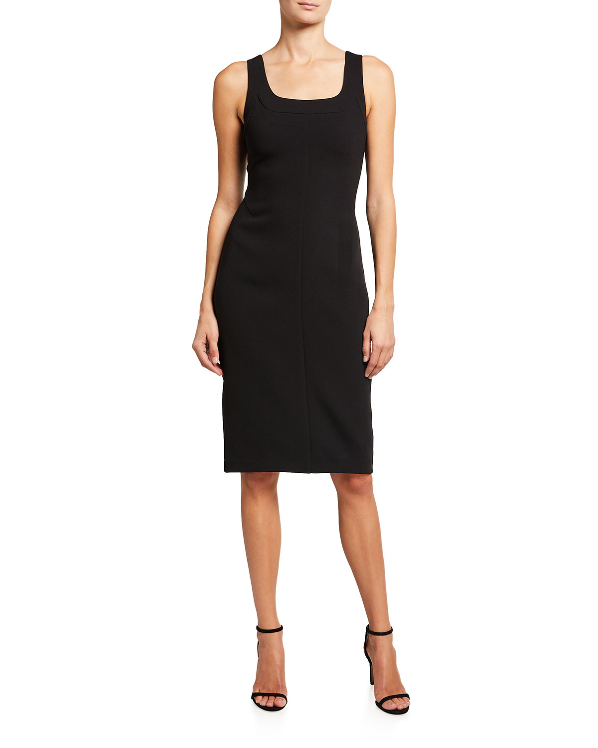 Halston CORA SLEEVELESS FITTED DRESS