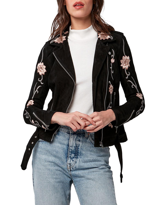 Lotus Flower Leather Jacket