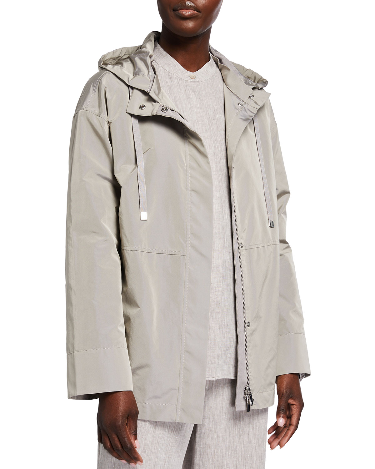 Lafayette 148 ANSEL JACKET WITH REMOVABLE HOOD