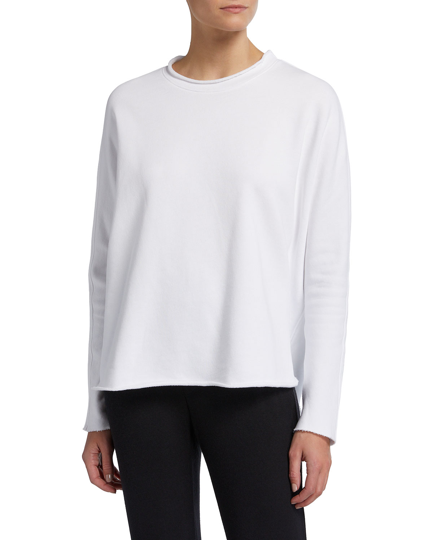 Long-Sleeve Fleece Capelet Top