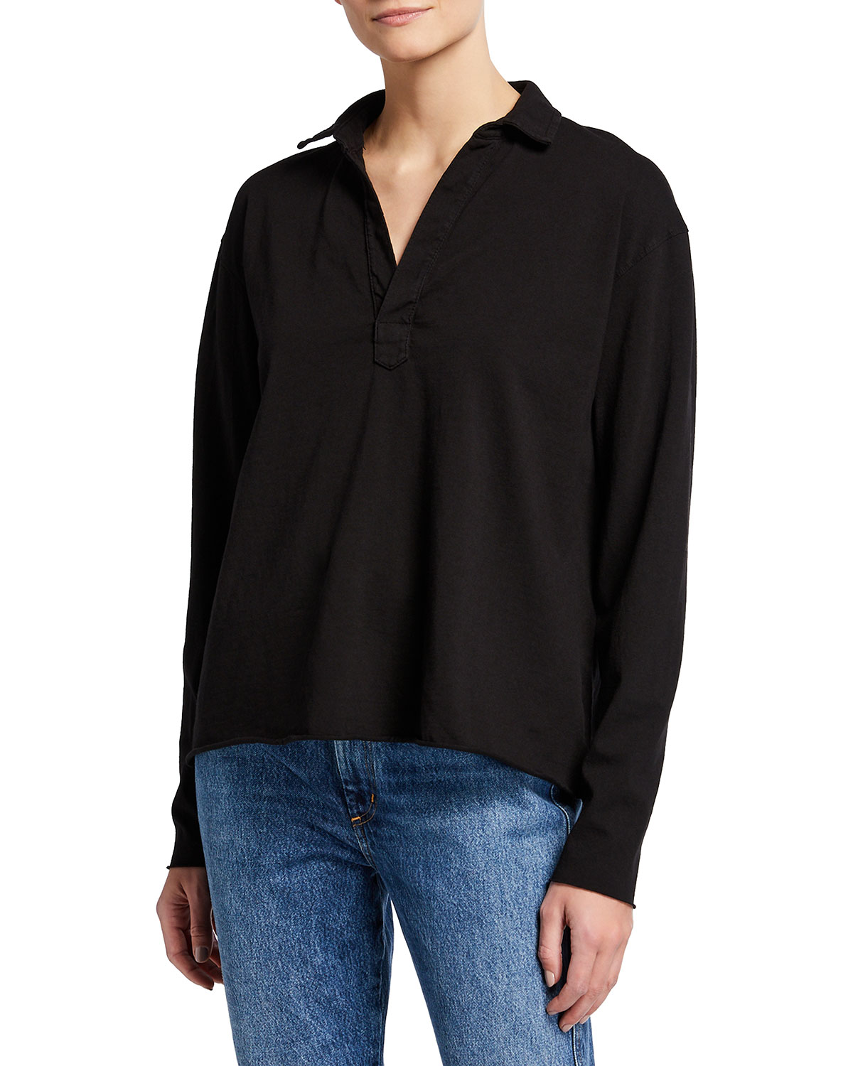 Popover French Terry Henley Top