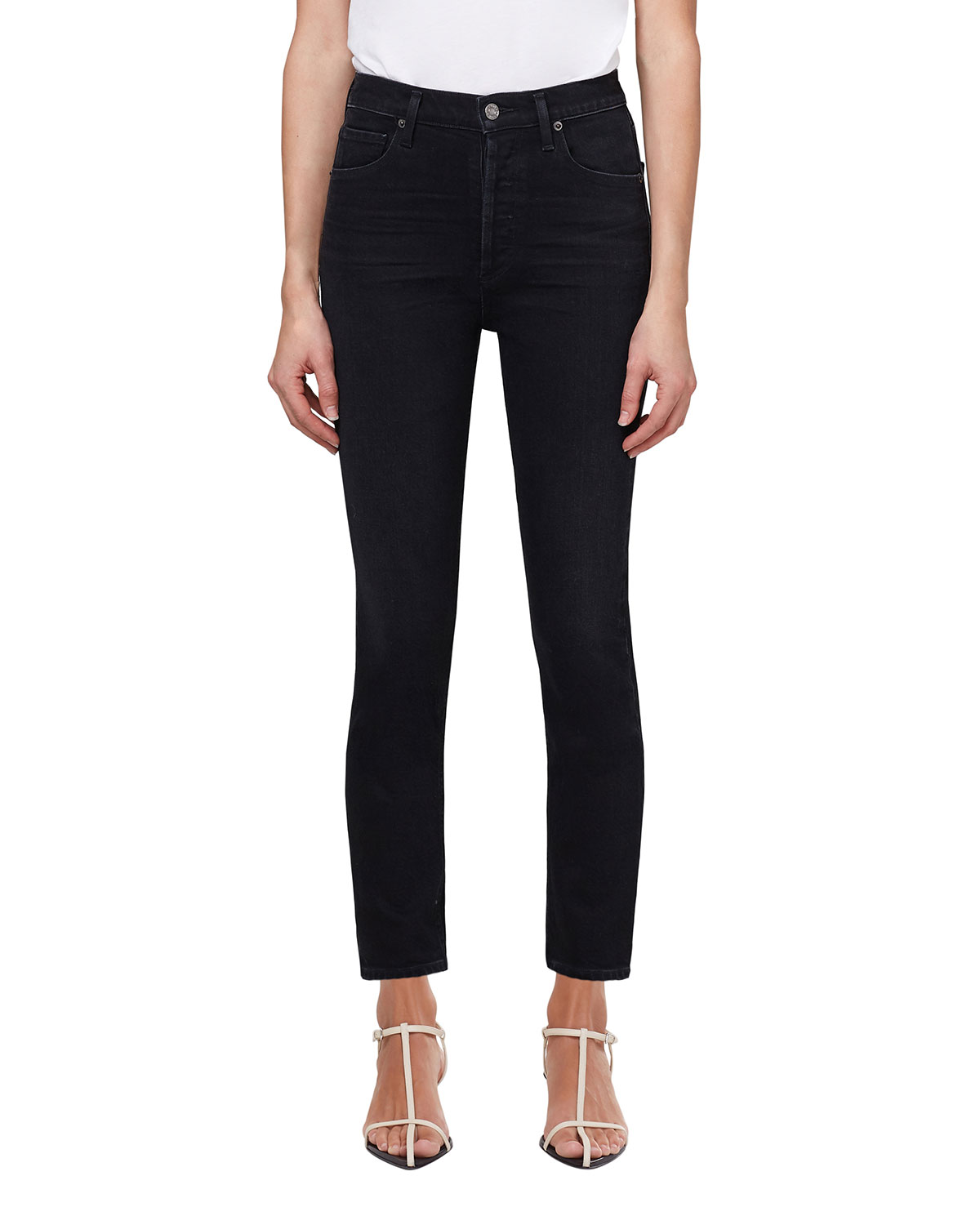 Nico Cropped Straight-Leg Jeans