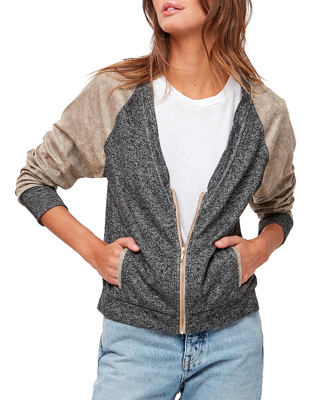 Karlie Colorblock Bomber Jacket