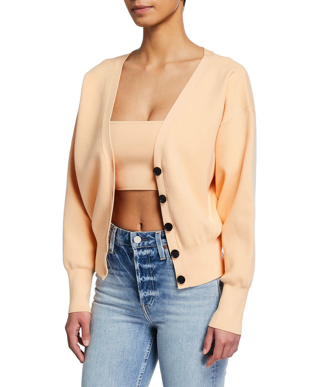 A.l.c PETERS II BUTTON-FRONT CARDIGAN