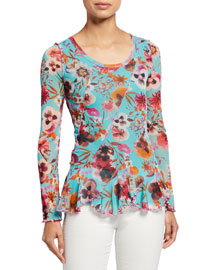 Akiko Tiered Top -  Novelty -  Neiman Marcus