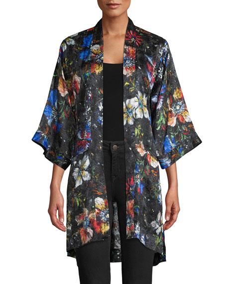 Robert Graham Jamie Floral Print Kimono Jacket