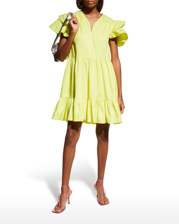Tanya Taylor Mini dresses MARISOL TIERED MINI DRESS