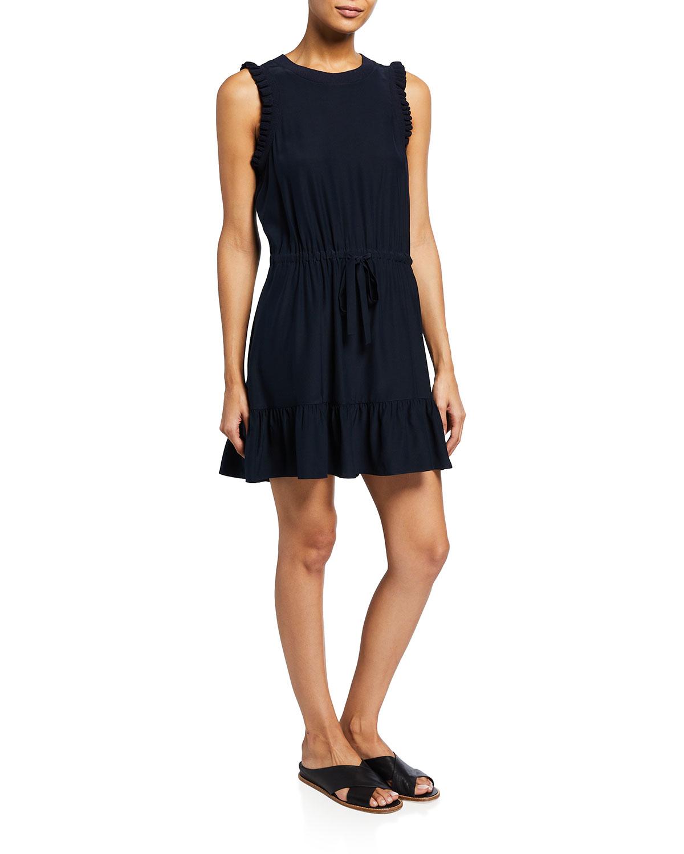 Lenora Silk Charmeuse Mini Dress