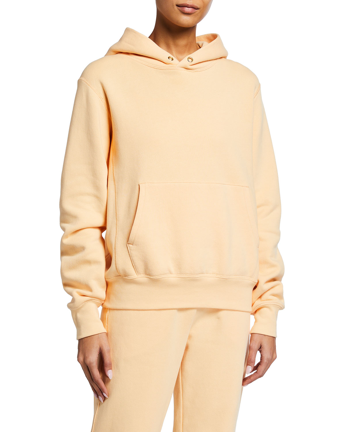 A.l.c SONIA HOODED FRENCH TERRY SWEATSHIRT