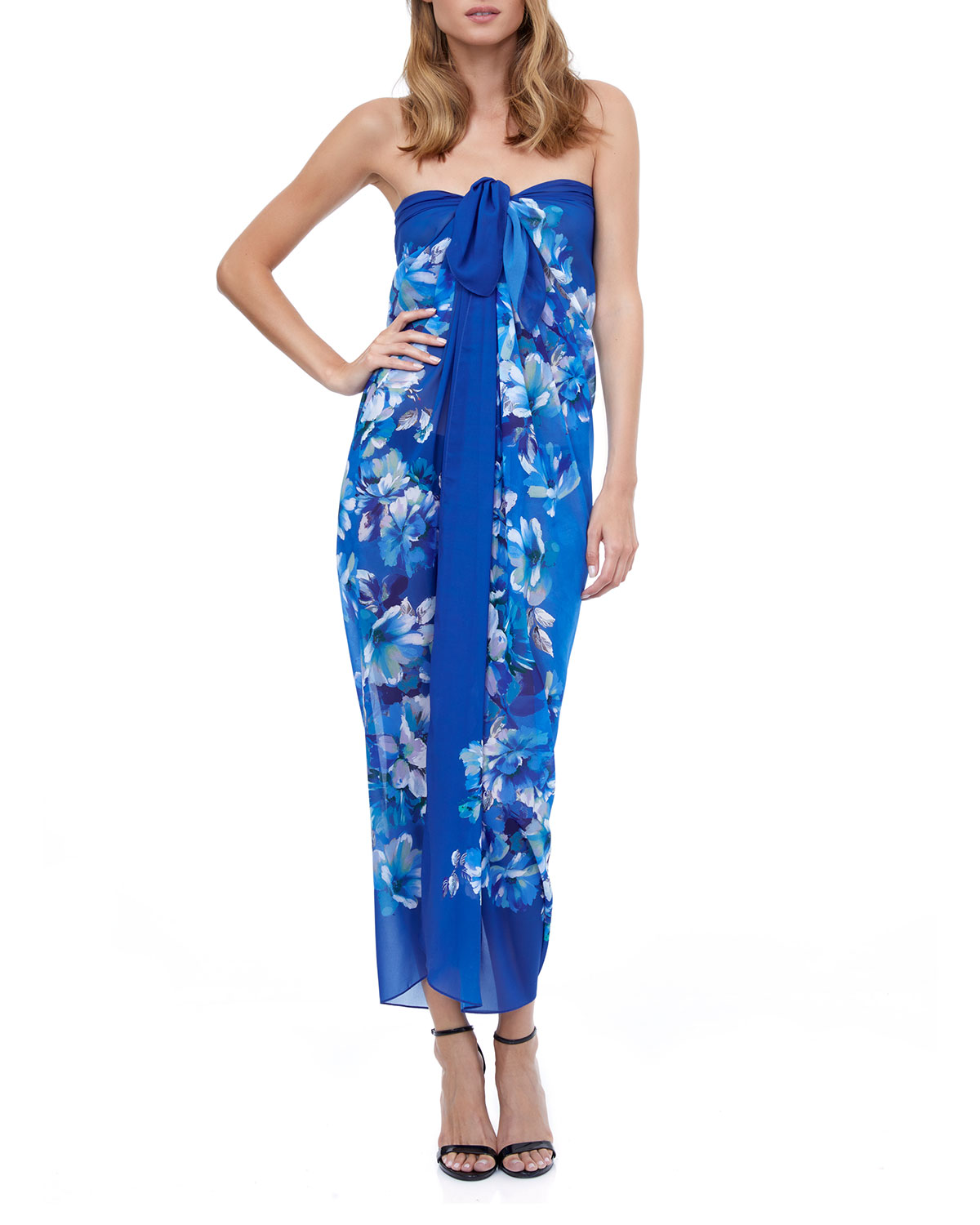 Gottex FLORAL COVERUP PAREO