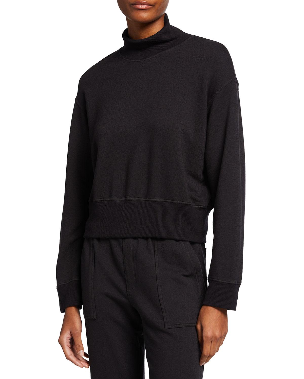 Supersoft Fleece Mock-Neck Sweatshirt