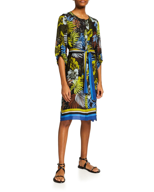 Kobi Halperin CELINE FLORAL-PRINT SILK DRESS