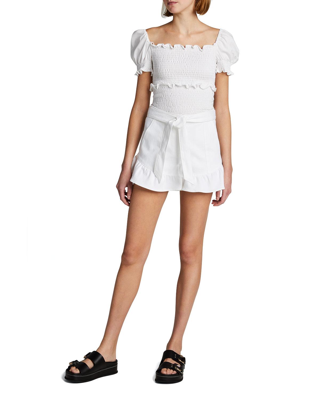 Penny Belted Denim Shorts