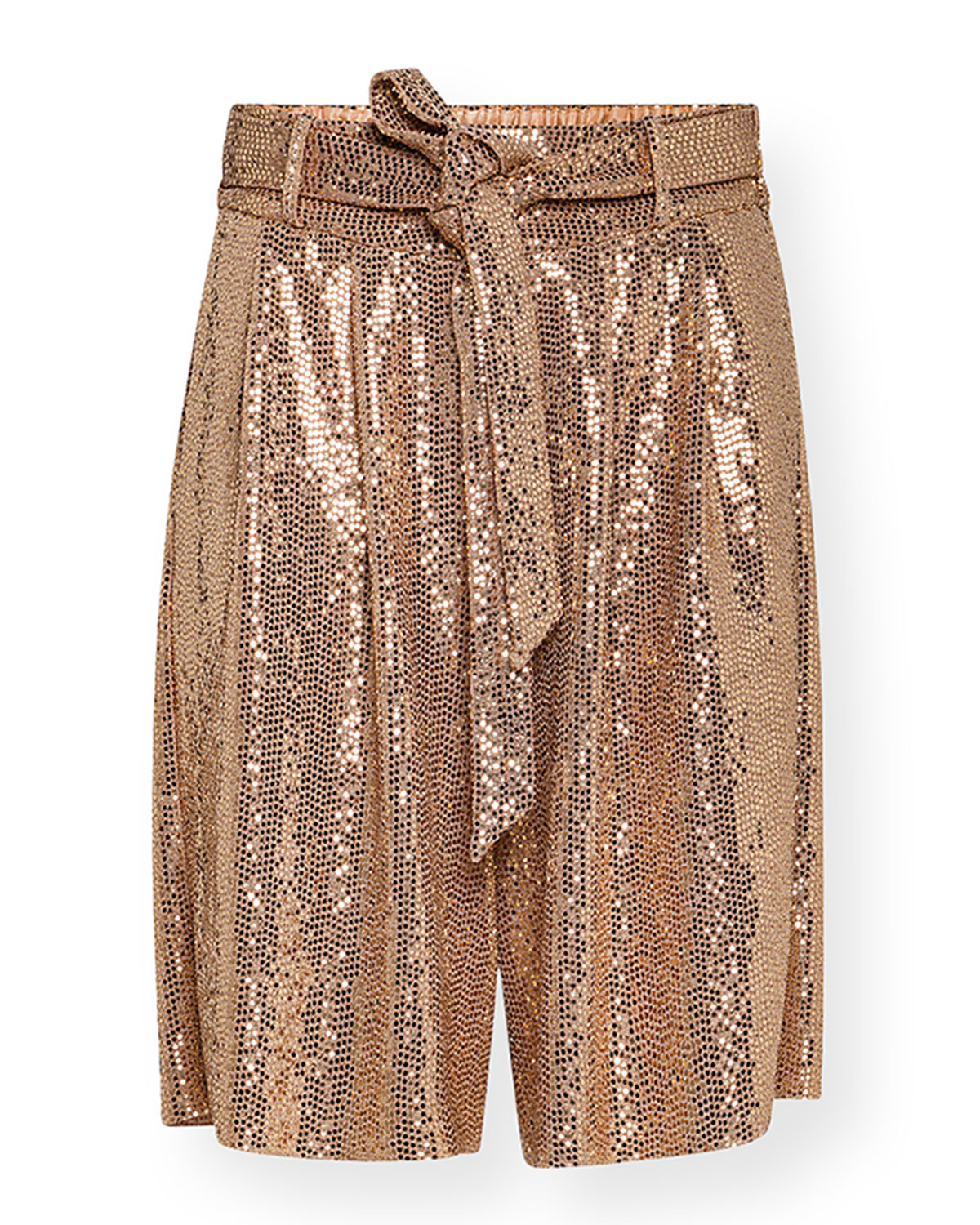Sequined Jersey Bermuda Shorts