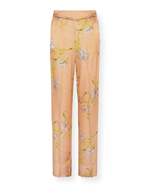 Giulietta Printed Viscose Wide-Leg Pants