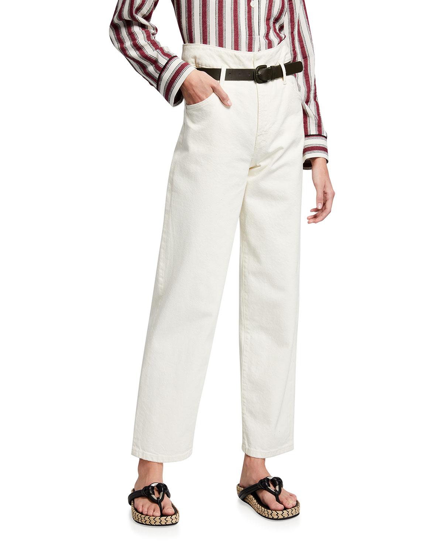 Dawn Belted Wide-Leg Denim Jeans