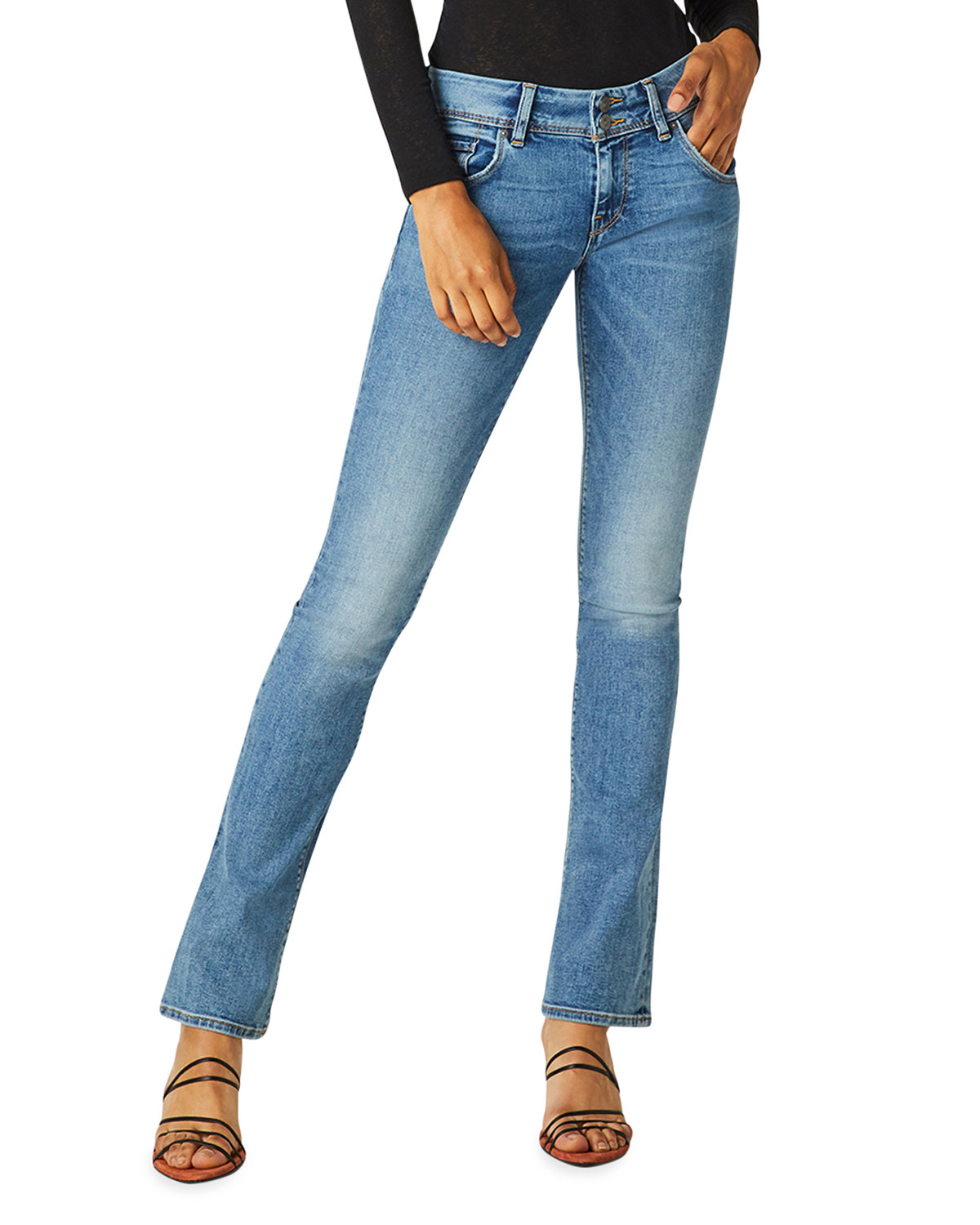 Beth Mid-Rise Baby Boot-Cut Jeans