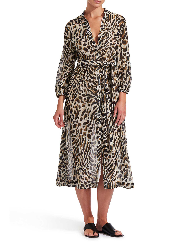 Prowess Animal-Print Maxi Dress