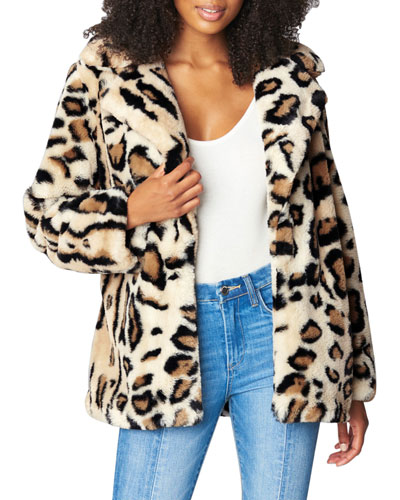 Wild Card Leopard Faux-Fur Jacket