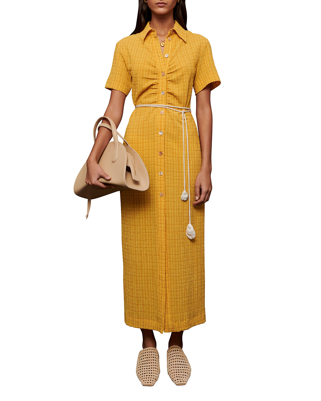 Nanushka Midi dresses SABRI BUTTON-UP CHECK SHIRTDRESS