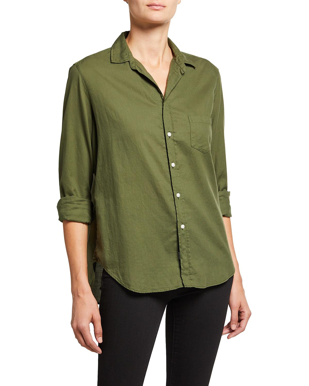 Eileen Woven Button-Up Shirt
