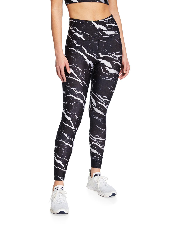 Onyx Marble Hi-Shine Leggings