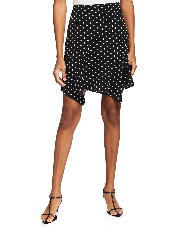 Milly Skirts LAURA SMALL DOT-PRINT SKIRT