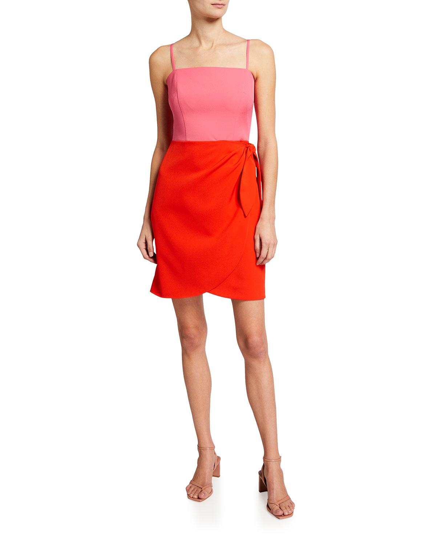 Milly Dresses MARISSA SLEEVELESS CADY COMBO DRESS