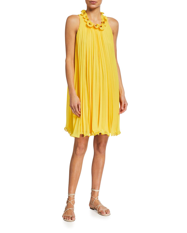 Trina Turk ELY PLEATED SHIFT DRESS