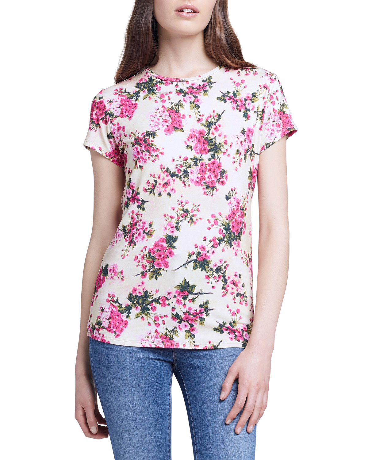 L Agence RESSI BOUQUET-PRINT TEE