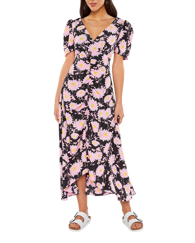 Mylene V-Neck Floral Midi Dress