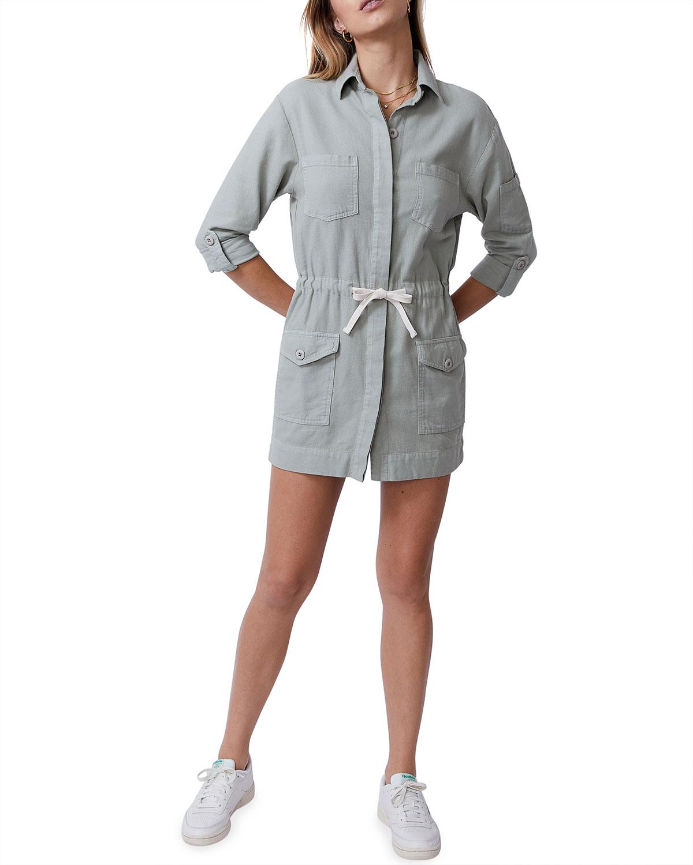 Short Twill Pocket Dress