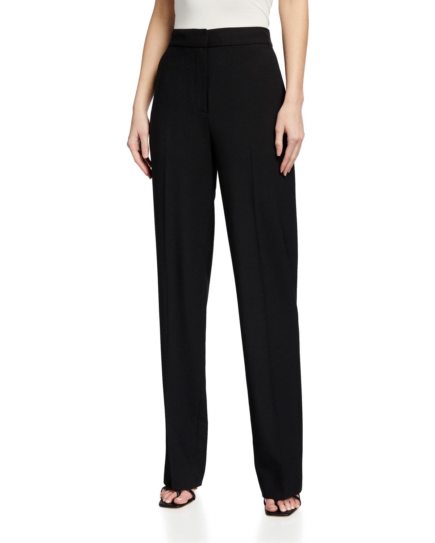 Rebecca Taylor Straight pants CAVALRY TWILL STRAIGHT-LEG PANTS