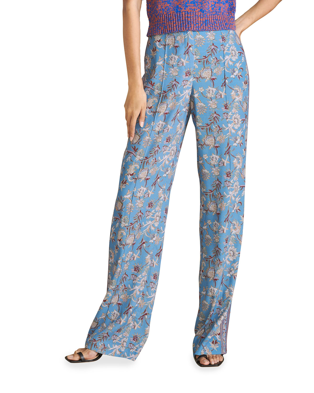 Veronica Beard Straight pants POMELINE PRINTED WIDE-LEG PANTS