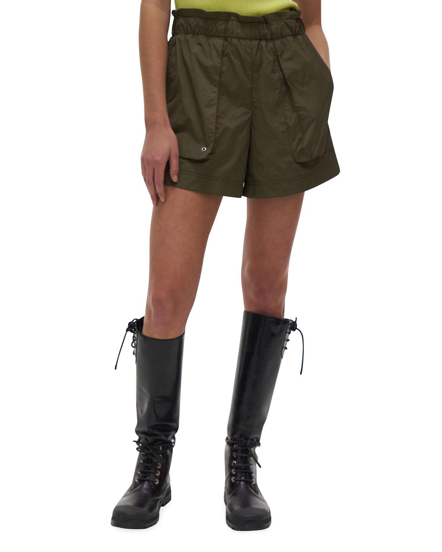 High-Rise Paperbag Shorts
