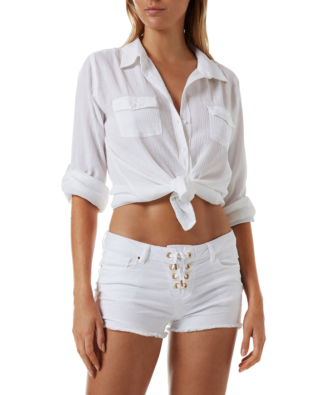 Tash Cotton Gauze Coverup Shirt