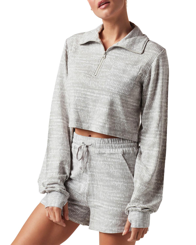 Luxe Fleece Zip-Front Top