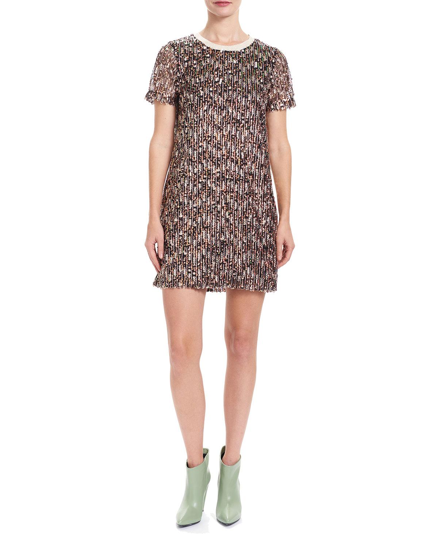 Niki Sequin Tee Mini Dress
