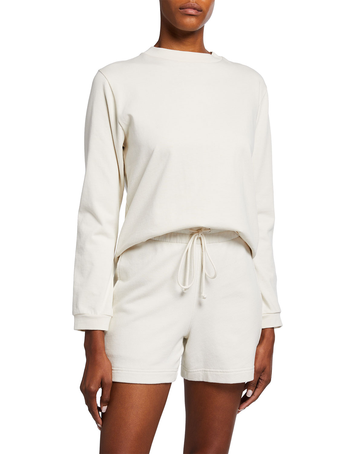Vince LONG-SLEEVE COTTON PULLOVER SWEATER