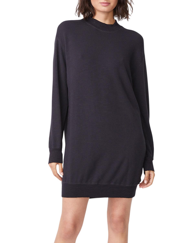 Monrow Midi dresses MOCK-NECK SWEATSHIRT DRESS