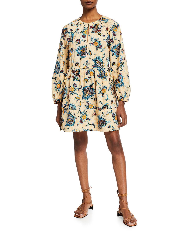 A.l.c Cottons MYRA PRINTED LONG-SLEEVE DRESS