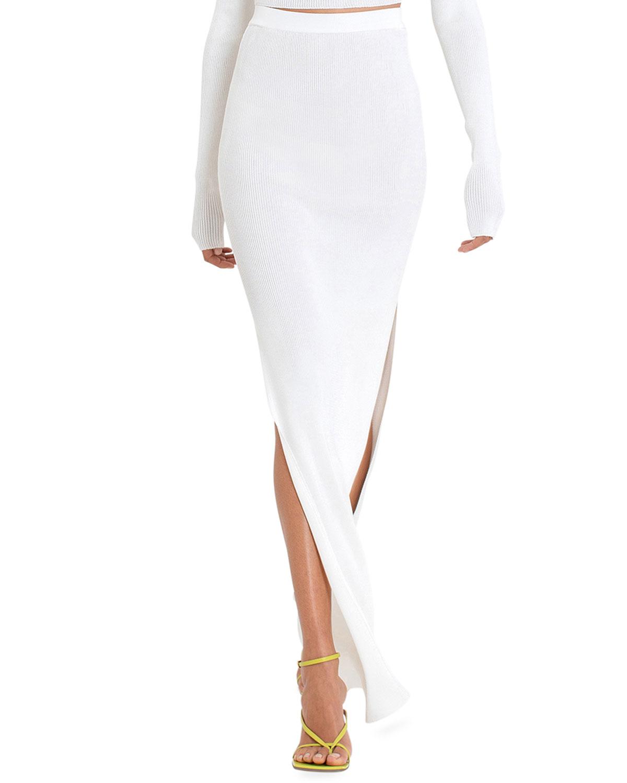 Arais Slit Body-Con Maxi Skirt