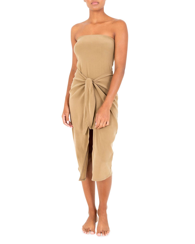 Strapless Midi Coverup Dress